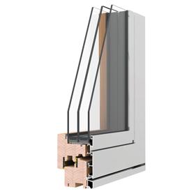 serramento in legno alluminio